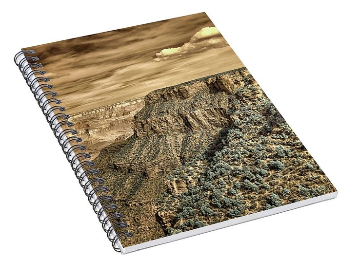 """""""Grand Canyon In Infrared"""" Spiral Notebook for Sale by Norman Gabitzsch #SpiralNotebook #NotePad #NoteBook #GrandCanyon #Infrared #FalseColorInfrared #SchoolSupplies #ArtSupplies #Drama #Dramatic"""