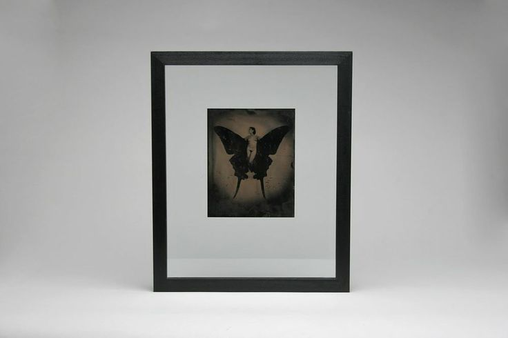 Jayne Hinds Bidaut Contemporary Tintype Photo BUTTERFLY LADY, 1999