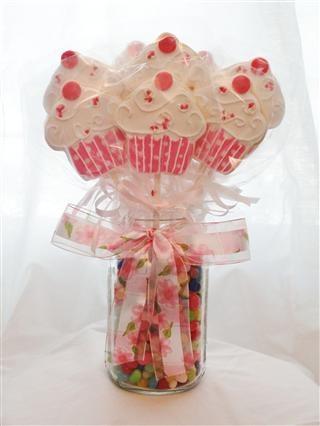 cupcake cookie pop bouquet