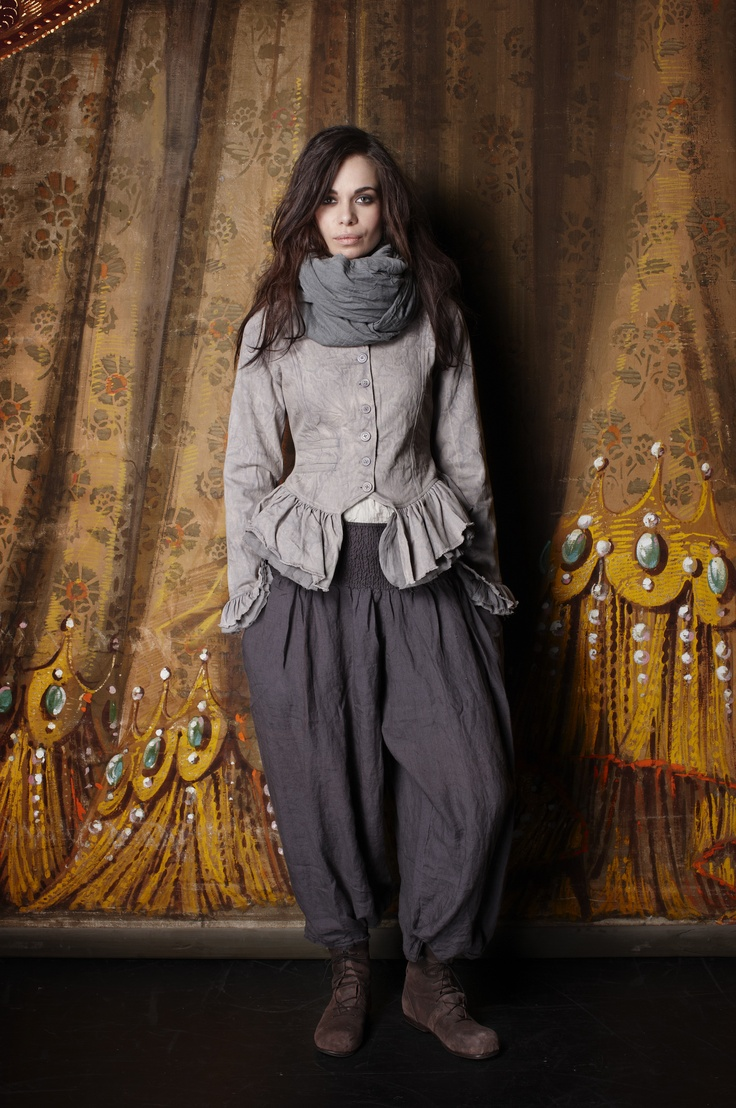 usage of historic cuts is not retro, retro is the mimikry of an overall feel of clothing, DIY uses only the cuts, it has rather a feel of theater - Ewa i Walla Art design AB - aw12