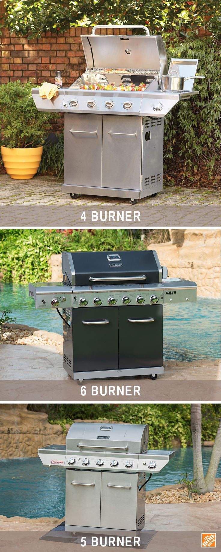 Even-heat technology across the grilling surface makes it easier for your cooking skills to shine. Nexgrill accomplishes this with side burners for additional cooking options and no-stick, no-burn surfaces for easy cleaning. Check out our wide selection of affordable Nexgrills available at The Home Depot.