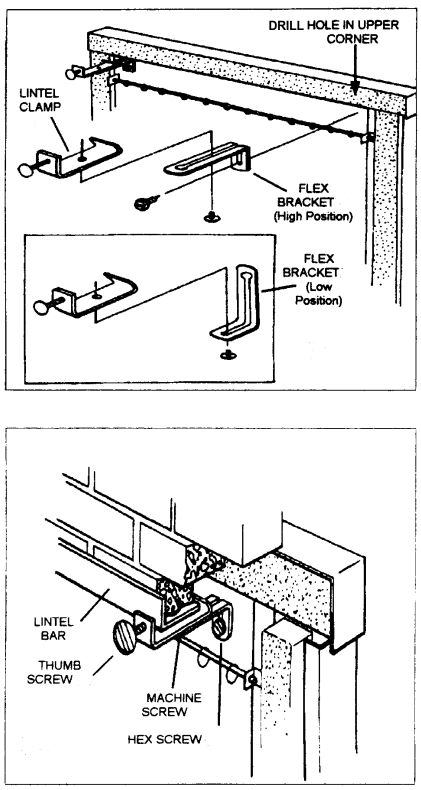 Now you can install almost any masonry fireplace door with our combination  mounting kit. Lintel Clamp Kit Includes: Lintel Brackets Flex Brackets… - Now You Can Install Almost Any Masonry Fireplace Door With Our