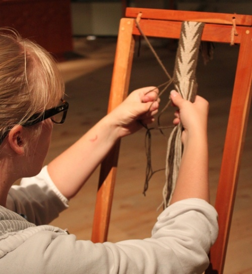 Fundamentals of Fléchée: The Basics of Finger Weaving workshop here at the Canadian Canoe Museum. www.canoemuseum.ca
