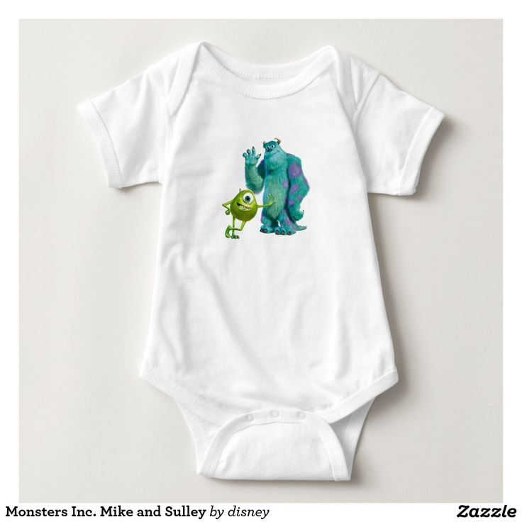 Monsters Inc. Mike and Sulley Baby Bodysuit