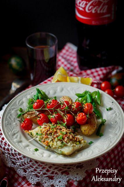 Baked cod with pistachio-lemon-parsley crumble / pieczony dorsz pod pistacjowo-pietruszkowa kruszonka