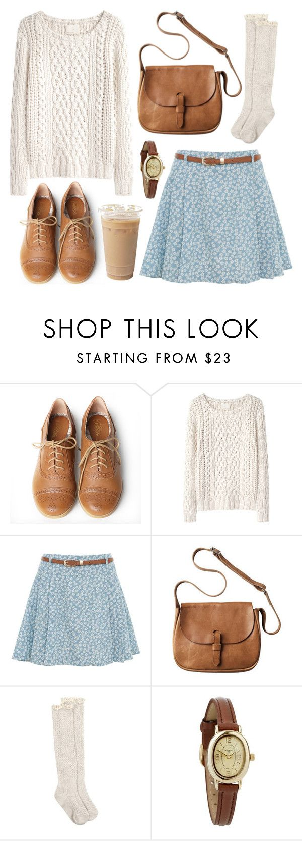 Baby blue & floral by hanaglatison on Polyvore featuring Band of Outsiders, Parisian, AllSaints, Very Volatile, Toast, Infinite, floral, oxford, sweater and shoes