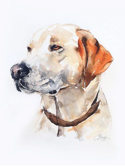 Custom pet portrait, original watercolour painting, dog or cat painting…