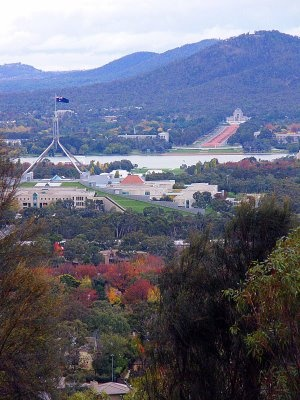 Parliament House and the Australian War Memorial - Canberra