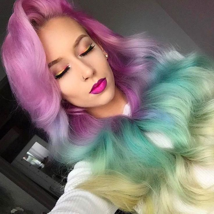 When you can't decide which one you'll be a #mermaid or a #unicorn. Like this @amythemermaidx look. Yay or nay? #makeup