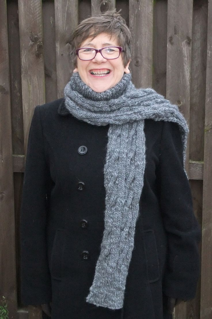 I knitted a ribbed polo neckwarmer, a long cable design scarf and then partially joined tyhem together