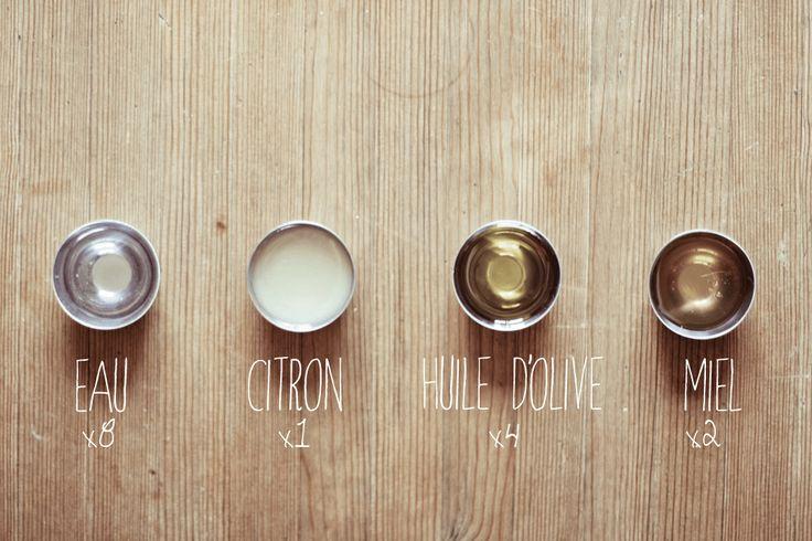 Masque au miel & huile d'olive pour les cheveux