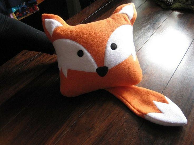 Tierisches Kissen Fuchs orange zu verkaufen
