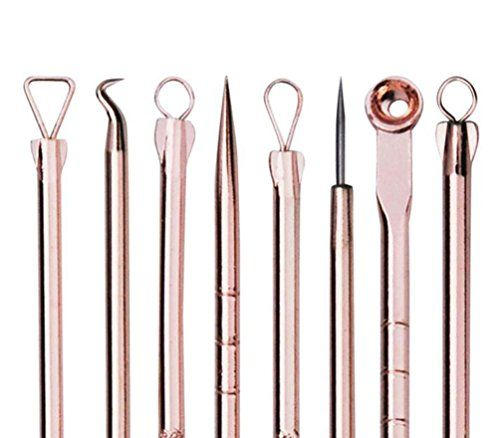 IBEET Blackhead Remover KitComedone Extractor Tool  Antimicrobial Doubleside 4 Pieces  Treatment for Blemish Whitehead Popping Zit Removing for Risk Free Nose Rose golden * You can get additional details at the affiliate link Amazon.com.