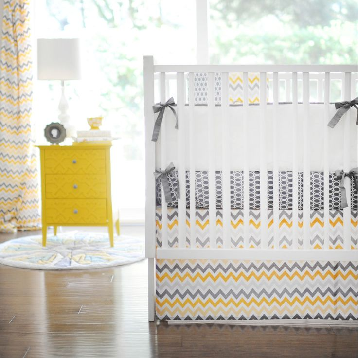 51 Best Baby Bedding Yellow Gray Images On Pinterest