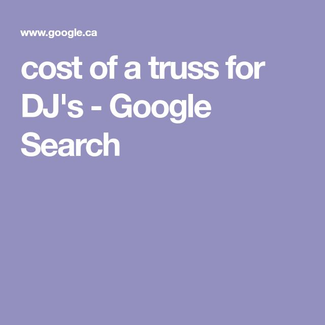 cost of a truss for DJ's - Google Search
