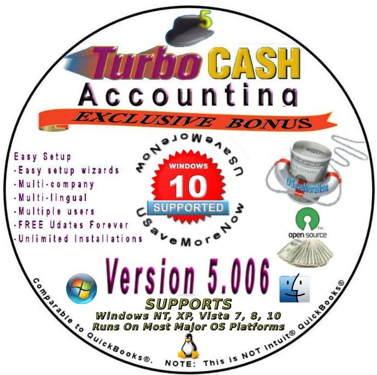Business & Personal  Accounting Software   TurboCASH  Ebay Books Included