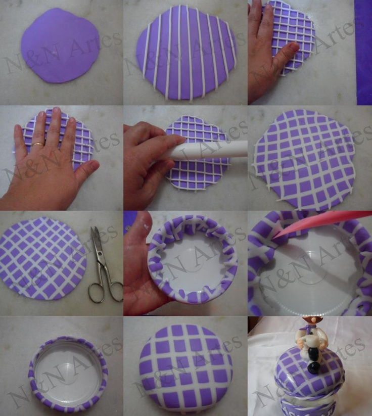 Como criar uma cobertura de tampas utilizando biscuit (porcelana fria).