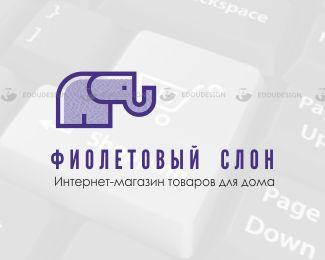 #лого #webstore #логотип #edoudesign #фиолетовыйслон #товарыдлядома #logomaker #logodesign #branding   Представляю две версии товарного знака для  ФИОЛЕТОВЫЙ СЛОН - Интернет-магазин товаров для дома