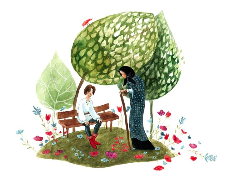 "Cristiana Radu illustration for ""Harap Alb - Romanian Fairytale""."