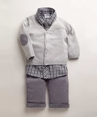 Mamas and Papas - Boys Welcome To The World 3 Piece Overalls Set