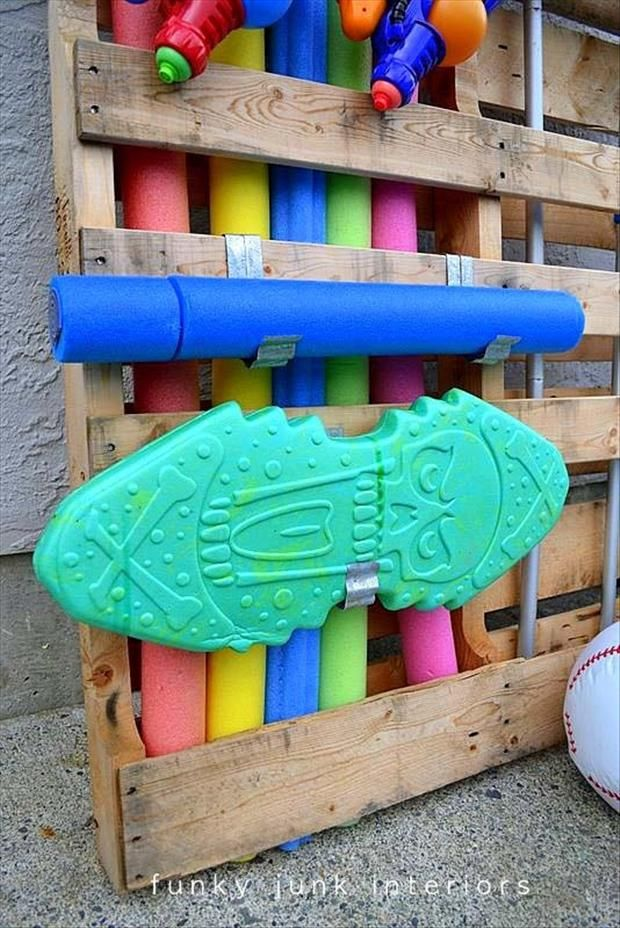 17 Best Ideas About Pool Toy Storage On Pinterest Pool Storage Pool Organization And Pool