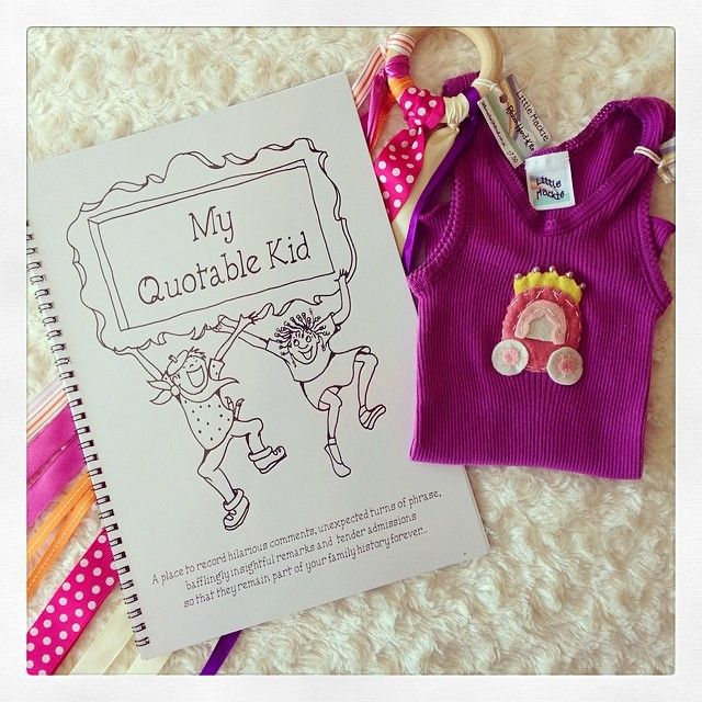A unique little gift pack containing a pretty ribbon handkite, a gorgeous handstitched singlet and a 'My Quotable Kid' book. Perfect for a baby shower gift, a new baby present, or for a first birthday party!