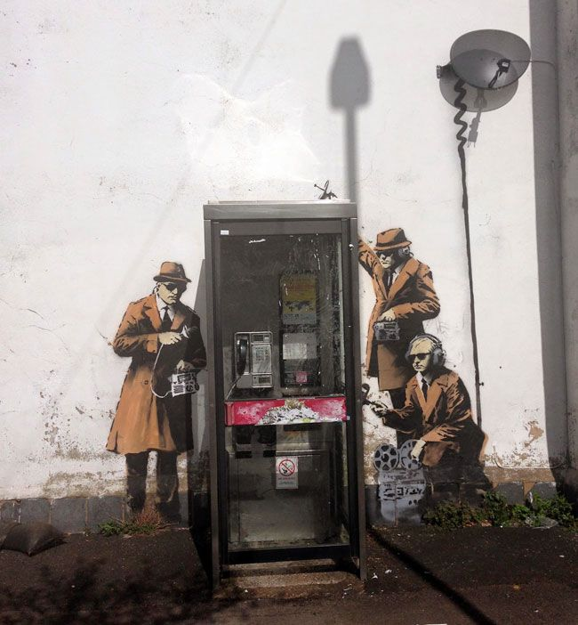 This new mural in Cheltenham, England, has all the markings of a new Banksy piece