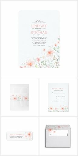 Summer Meadow Watercolor Floral Wedding Collection