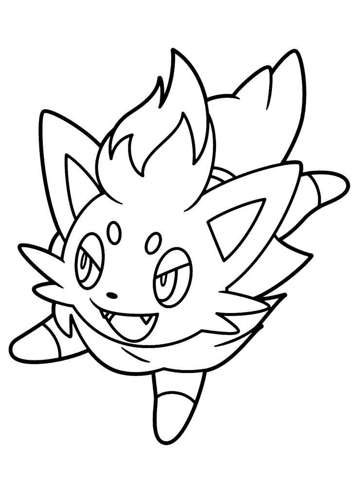 pokemon zorua coloring pages for kids printable pokemon coloring pages for kids
