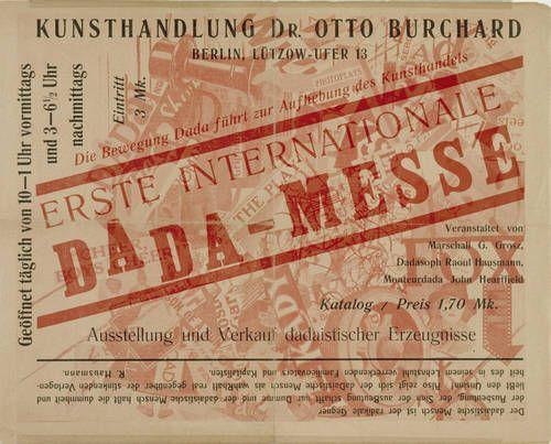 John Heartfield (born Helmut Herzfelde; German, 1891-1968). Cover of the exhibition catalogue First International Dada Fair, John Heartfield and Wieland Herzfelde editors, Otto Burchard and Malik-Verlag, July 1920.