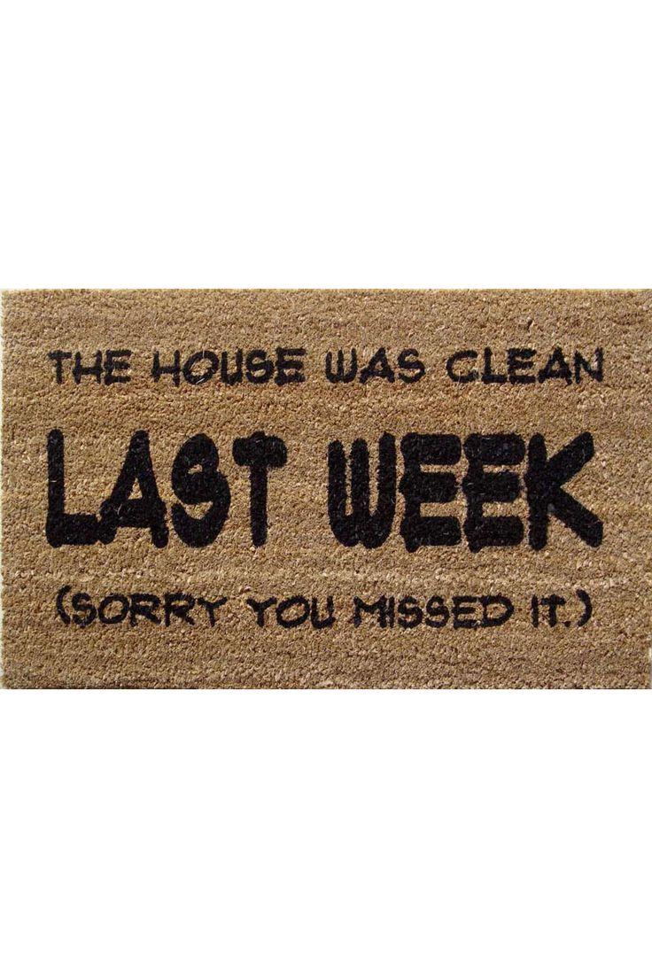 Mats Matter - Last Week PVC Back Coir Doormat in Brown