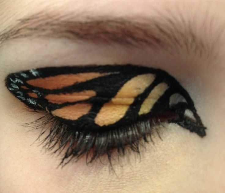 Monarch butterfly eye makeup. Gorgeous.