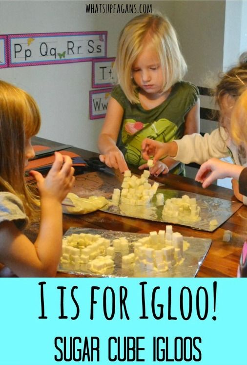 I is for Igloo - Sugar Cube Igloo Craft and Preschool Lesson on the letter I. Great winter activity too.