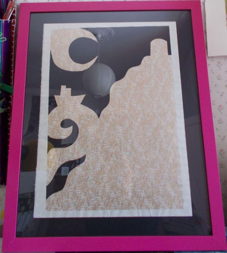 costiera, paper cutting, carta washi, 2015