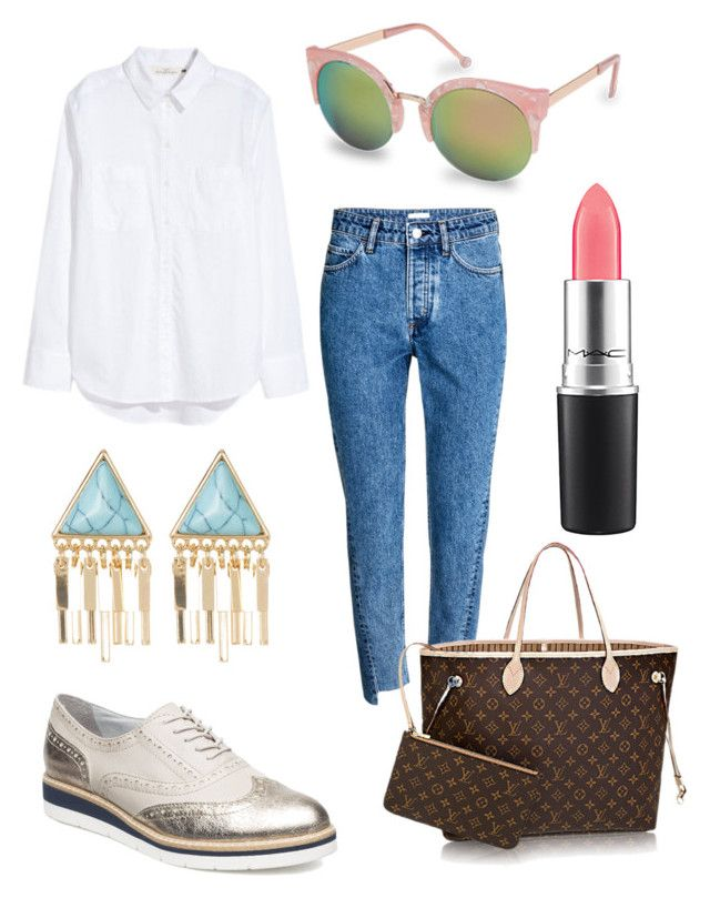 """Untitled #216"" by stinasolheim on Polyvore featuring H&M, Natasha, Tamaris and MAC Cosmetics"