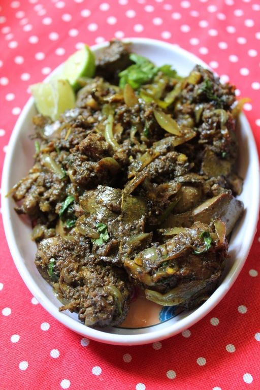 YUMMY TUMMY: Chicken Liver Pepper Fry [Ingredients: Chicken Liver, Bay Leaf, Fennel Seed, Cinnamon Stick, Onions, Garlic, Green Chilli, Coriander leaves, Lemon Juice as needed. Spice Powders: Turmeric, Coriander, Pepper, Cumin Powder, Garam masala]