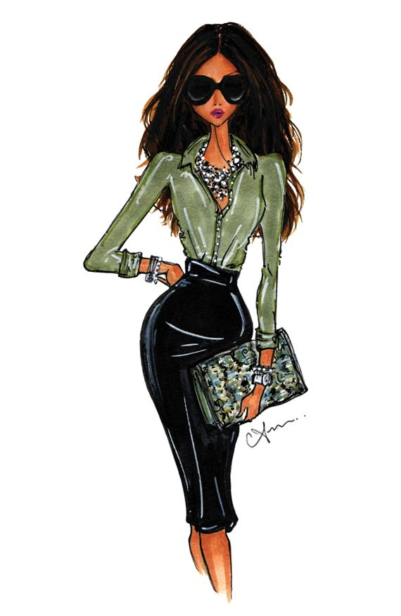 anum tariq illustrations  Be Inspirational❥ Mz. Manerz: Being well dressed is a beautiful form of confidence, happiness & politeness