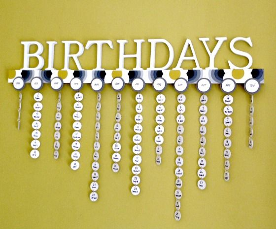 DIY Family Calendar: Never Forget A Birthday Again! | Diply