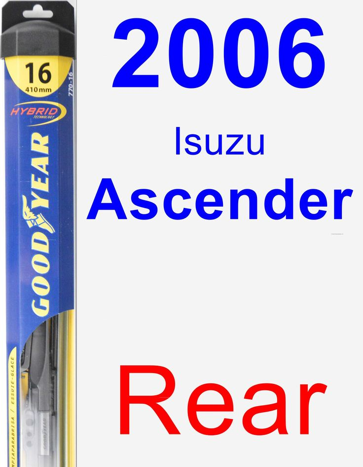 Rear Wiper Blade for 2006 Isuzu Ascender - Hybrid