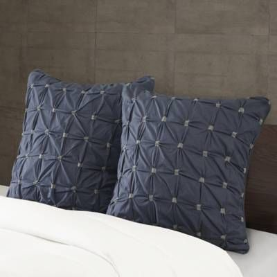 Product Image for INK+IVY Jane European Pillow Sham in Navy 2 out of