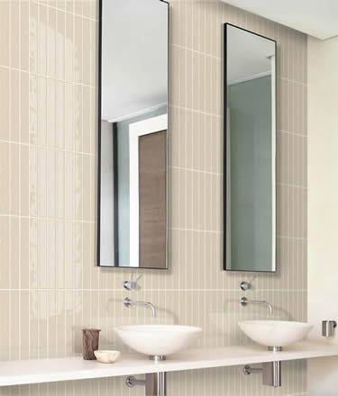 bathroom splashback with Matrix tile Sandstone format 13