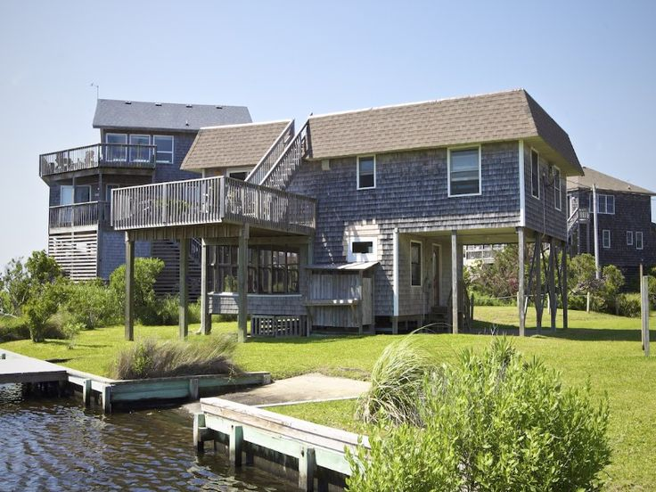 Oyster cove 341 3 bedroom soundfront house in avon for Hatteras cabins rentals