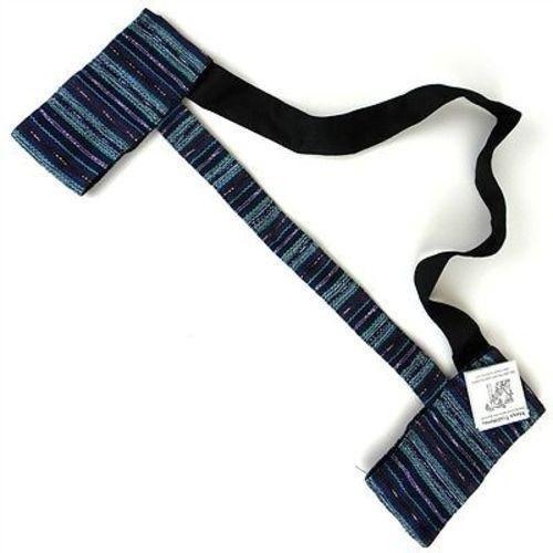 Hand Woven Sololá Yoga Mat Sling in Blue-Purple Handmade and Fair Trade
