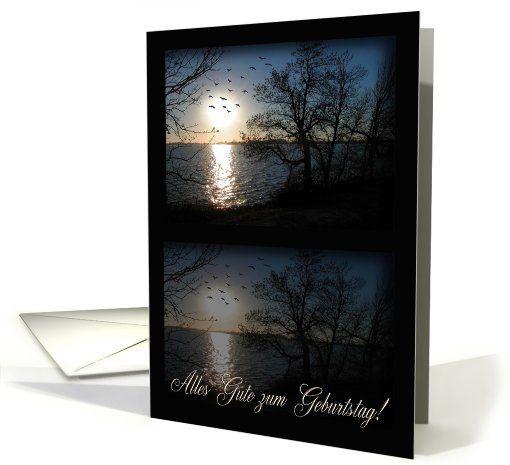 Across the lake, Alles Gute zum Geburtstag!, Happy Birthday in German card