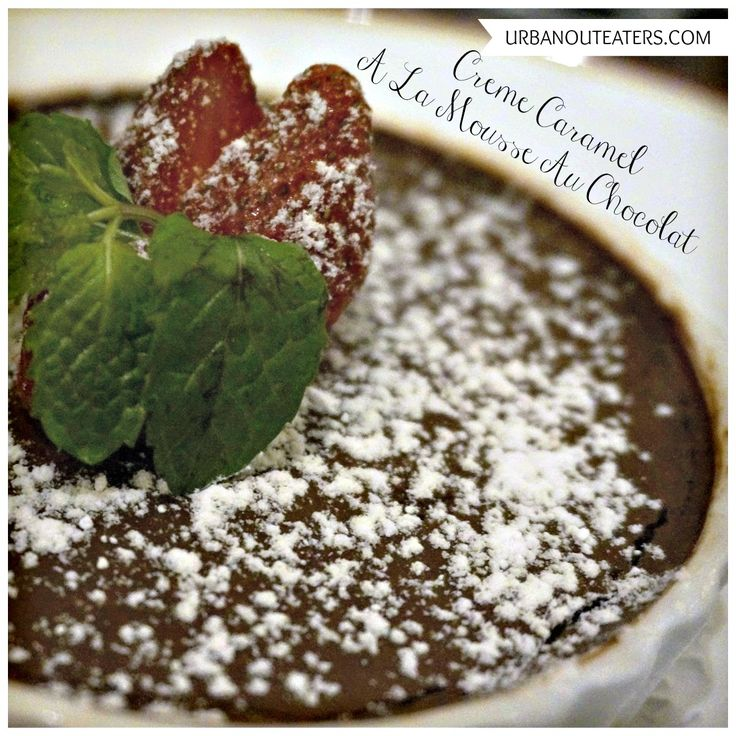 Chocolate Caramel mousse dessert at Le Quartier,Jakarta, Indonesia.