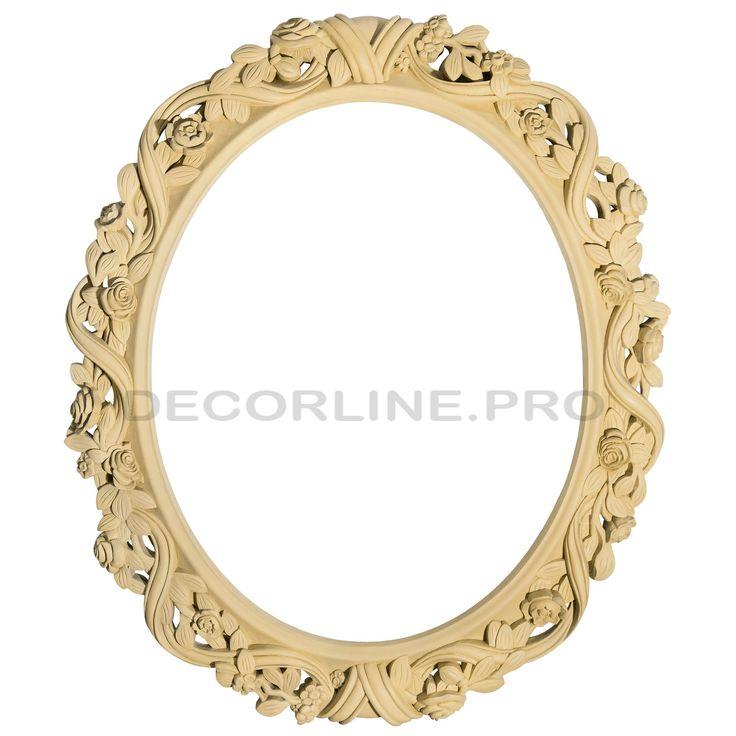 Рамы для зеркал из полимера, полиуретана PE03 Размер/Size: 980x840x45. Резной декор из древесной пасты, древесной пульпы, полимера, полиуретана, ППУ, МДФ, прессованный декор, резной декор из массива, резной декор из дерева