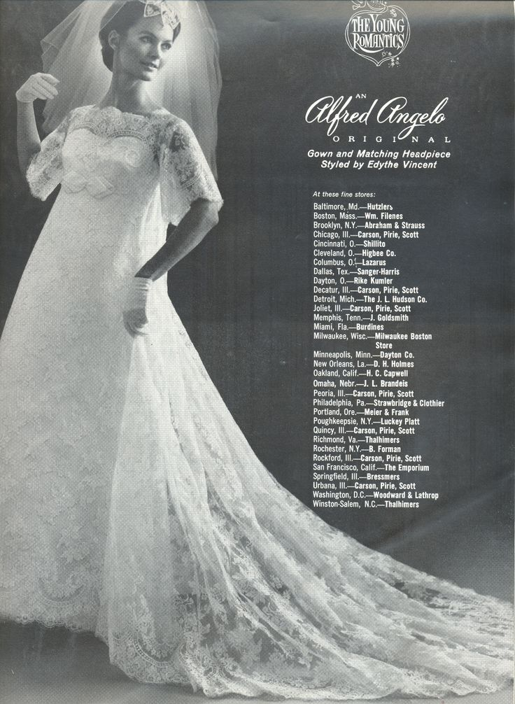 An Alfred Angelo Original Styled By Edythe Vincent Spring Vintage Designer Fashion Bride Ad
