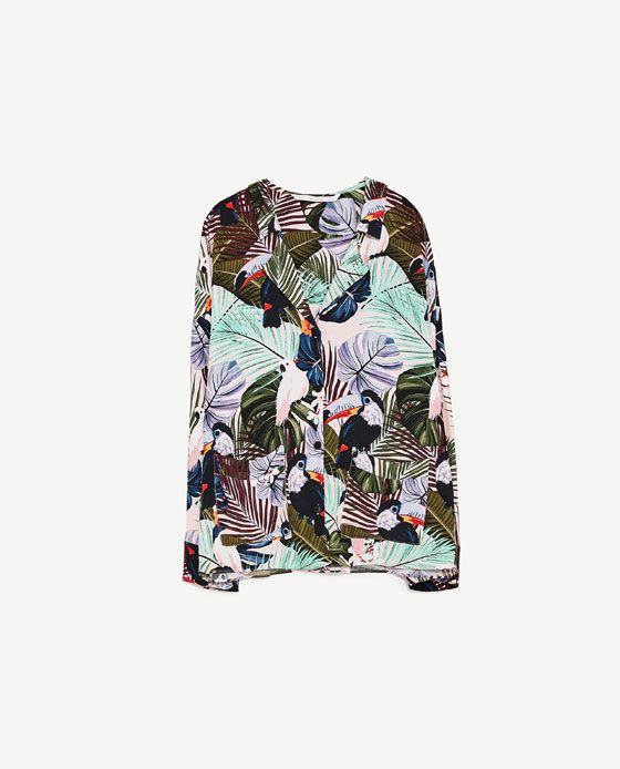 Image 8 of PRINTED PYJAMA-STYLE SHIRT from Zara
