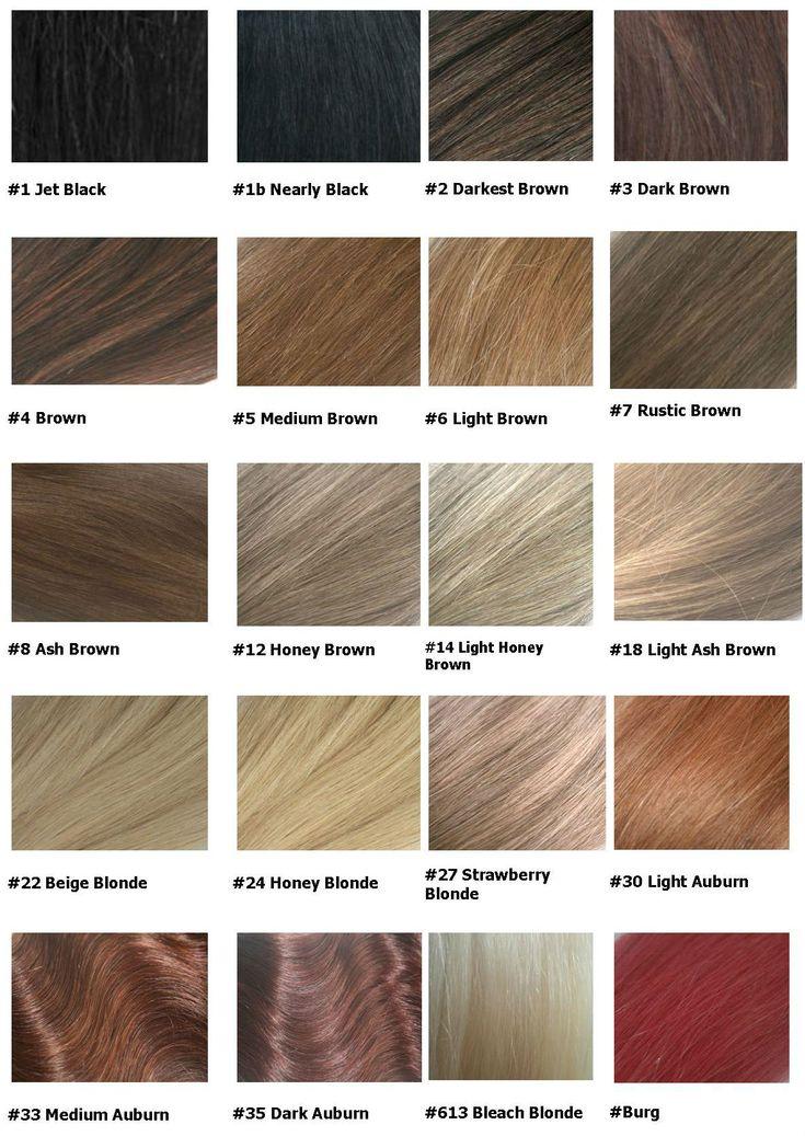 hair colour chart 2016