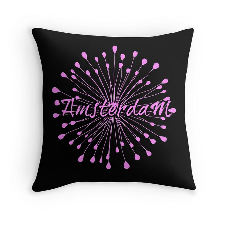 Amsterdam pillow. Nice pads designed by Brigitte B. Would you buy this pillow? Look here: https://www.redbubble.com/people/bbrigitte/works/23534346-amsterdam-black-and-pink-flower?p=throw-pillow&ref=artist_shop_grid